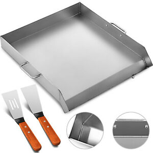 18 X 16 Stainless Steel Griddle Flat Top Grill Bbq Burner Heavy Duty Bbq Stove