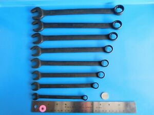 Used Snap On Tools Industrial Finish Sae Wrench S Lot Of 8