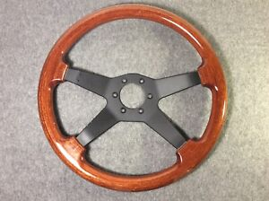 Vintage Dino Wood Wooden 4 Spoke Steering Wheel Made In Italy Nice
