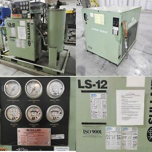 Sullair Air Compressor Rotary Screw 50 Hp And Dryer Included