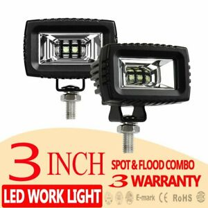 2pcs 3inch Cree Led Work Light Pods Off Road Driving Flood Lamp For Jeep Ford