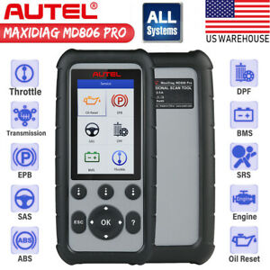 Autel Md806 Pro Md808 Car Diagnostic Tool All Systems Epb Oil Reset Dpf Abs Scan