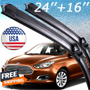 One Pair Windshield Wiper Blades Bracketless J Hook Oem Quality 24
