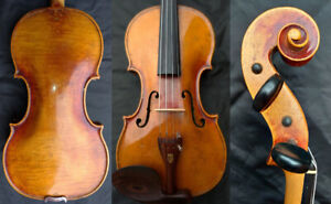 Fine 4 4 Antique Royal German Violin W 2 Methological Sign C 1850 Rosewood