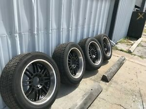 Used 22 Inch Aluminum Ford Excursion Rims And Nexen Roadian Hp Tires