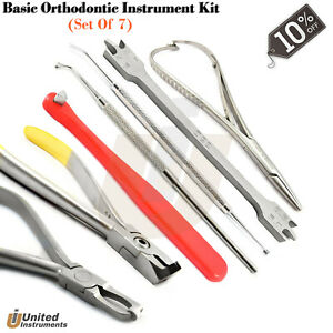 Basic Orthodontic Instrument Kit Wire Cutter Distal Bender Mathieu Needle Holder