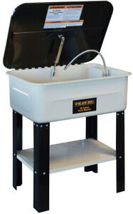 Parts Washer 20 Gal Automotive Shop Equipment With Cover Pump Recovery Bin