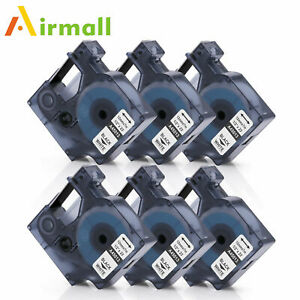 Compatible With Dymo D1 45013 12mm Label Tape Black White Labelmanager 1 2 6pk
