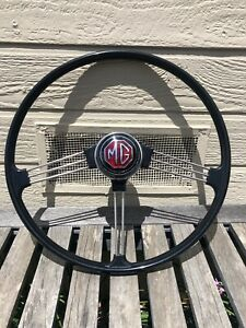Lightly Used Oe Type Reproduction Steering Wheel With Horn Mgb 1963 1967
