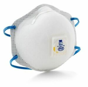 10 Pcs 3m 8271 P95 Disposable Particulate Respirator Mask W Exhalation Valve