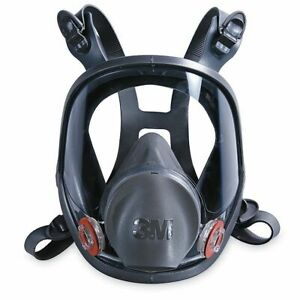3m 6900 Large Full Face Reausable Air Purifying Respirator Mask Wide View