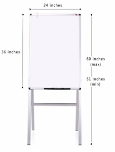 Viz pro Magnetic H stand Whiteboard adjustable Dry Erase Easel 24 X 36 Inches
