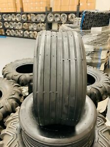 2pk Of New 16x6 50 8 4pr Rib Tubeless Tires John Deere Lawn Mower Tractor Rider