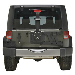 Hinged Tire Carrier W Brake Light Bracket Fit For 07 18 Jeep Wrangler Jk