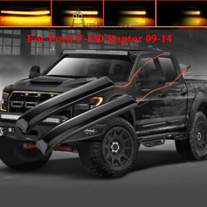 Led Smoked Lens Side Mirrors Reflector Turn Signal Light For F 150 Raptor 09 14