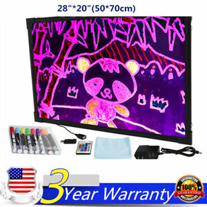 28 20 Flashing Illuminated Fluorescent Neon Led Glow Writing Board Menu Sign