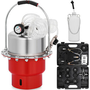 Pneumatic Air Pressure Brake Bleeder Kit Portable Mechanics Garage Workshop