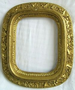 Antique Fits 6 5 X 8 5 Gold Gilt Picture Frame Wood Gesso Ornate Fine Art Oval