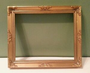 Picture Frame Wood Gold Family Photo Art Frame Small