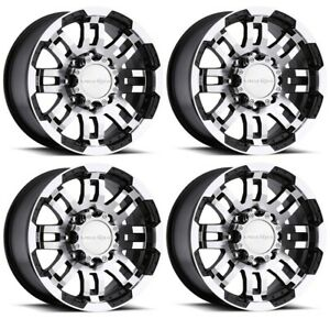 20 Ford F250 F350 Super Duty 8x170 Black Machined Rims 18mm Set Of 4 Wheels