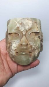 Pre Columbian Olmec Jade Mask From Mexico Ca 400 Bc