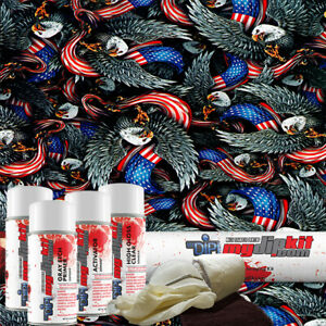 Hydro Dipping Water Transfer Printing Hydrographic Dip Kit American Pride Dd 972