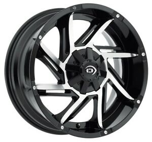1500 F150 Black Machined Rims 18x9 12mm 6x135 6x139 7 6x5 5 Set Of 4 Wheels 18