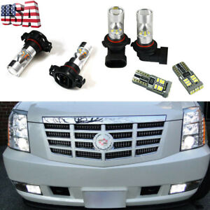6x White Led Fog Driving Drl Light Bulbs Combo For Cadillac Escalade 2007 2014