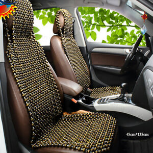 1pc Natural Wood Wooden Beaded Massage Car Truck Seat Cover Cool Cushion Summer
