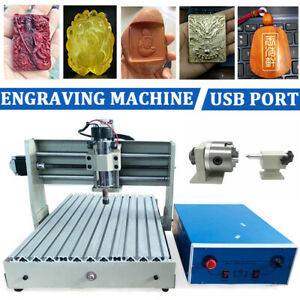 Usb Port 4 Axis Cnc3040 Router Engraver 3d Desktop Wood Carving Milling Machine