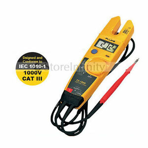 Fluke T5 1000 1000 Voltage Current Electrical Tester Clamp Meter Free Shipping