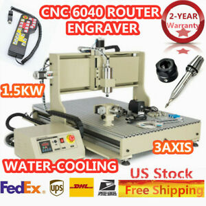 Cnc 6040 Router Engraver Engraving Machine 3axis 1 5kw Vfd Ball Screws Us Stock
