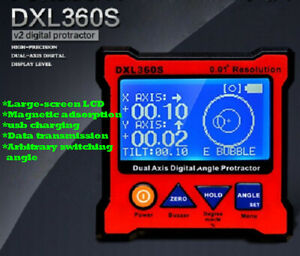 Digital Inclinometer Dual Axis Level Box Dxl360s Gyro Gravity 2 In 1