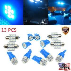 13x 12v Led Car Interior Inside Light Dome Trunk Map License Plate Lamp Bulb Us