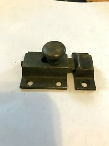 Antique Shabby Cast Brass Arts Craft Victorian Cabinet Cupboard Door Latch Lock