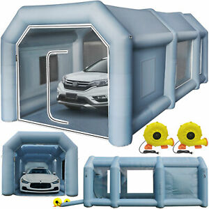 Inflatable Spray Booth Tent Car Paint Booth 2 Blowers Highly Stable Anti Uv