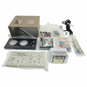 Dc Power Supply Triple Output one Fixed Two Continuous Kit With 30v Ac Output
