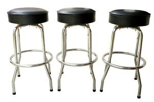 Mid Century Modern Bar Stools Set Of 3