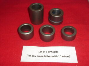 Used Lot Of 5 Vintage Miscellaneous Spacers Fit Any 1 Arbor Brake Lathes