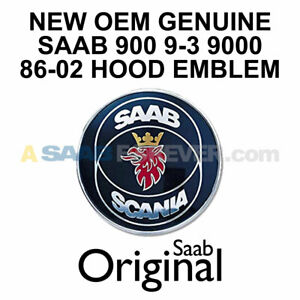New Saab Scania Oem Hood Emblem 86 02 900 9 3 9000 Genuine Saab 93 4522884