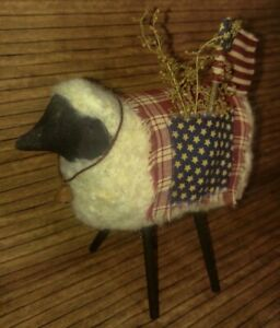 Primitive Decor Americana July 4th Sheep Handcrafted