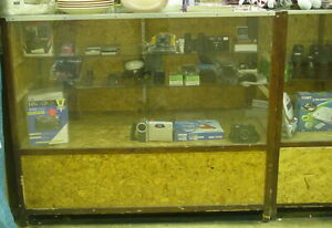 2 showcases Custom Made With Glass Front Top Storage Drawers