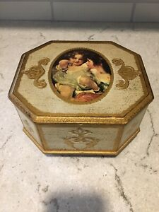 Antique Victorian Inlaid Musical Jewelry Box 19th Century Fly Me To The Moon