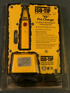 Iso tip Model 7800 Cordless Soldering Iron 2 New Portable Made In The Usa