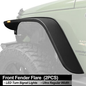 Fender Flares Led Steel Regular Width Front Fits 07 18 Jeep Wrangler Jk