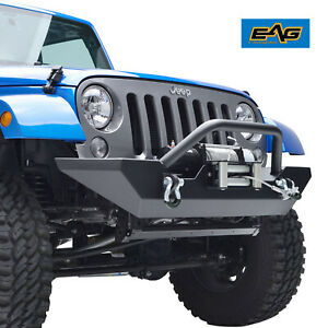 Front Bumper With Winch Plate Rock Crawler For 07 18 Jeep Wrangler Jk