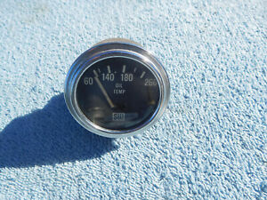 Vintage Stewart Warner Oil Temperature Gauge 100 260 Sw