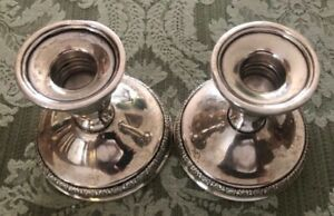 Pair Of International Prelude Sterling Silver 3 1 2 Candle Holders N212