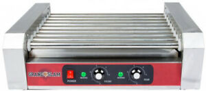 Grand Slam Commercial 24 Hot Dog Roller Grill With 9 Rollers 110v 1350w