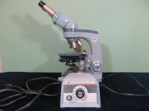 American Optical Ao Spencer Microscope With 3 Objectives 10x W F Eyepiece
